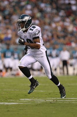 PHILADELPHIA - AUGUST 13:  DeSean Jackson #10 of the Philadelphia Eagles against the Jacksonville Jaguars during their preseason game at Lincoln Financial Field on August 13, 2010 in Philadelphia, Pennsylvania.  (Photo by Nick Laham/Getty Images)