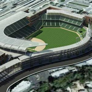 The design of the theoretical San Jose A's ballpark