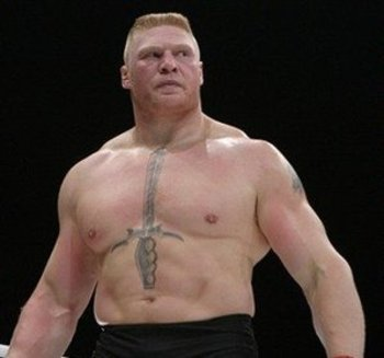 Brock Lesnar chest tatoo