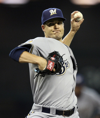 HOUSTON - JULY 30:  Pitcher Manny Parra #26 of the Milwaukee Brewers throws against the Houston Astros at Minute Maid Park on July 30, 2010 in Houston, Texas.  (Photo by Bob Levey/Getty Images)