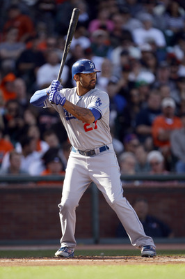 SAN FRANCISCO - AUGUST 01:  Matt Kemp #27 of the Los Angeles Dodgers bats against the San Francisco Giants at AT&amp;T Park on August 1, 2010 in San Francisco, California.  (Photo by Ezra Shaw/Getty Images)