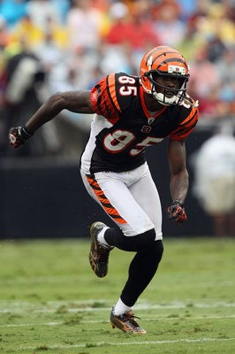 CHARLOTTE, NC - SEPTEMBER 26:  Chad Ochocinco #85 of the Cincinnati Bengals during their game against the Carolina Panthers at Bank of America Stadium on September 26, 2010 in Charlotte, North Carolina.  (Photo by Streeter Lecka/Getty Images)