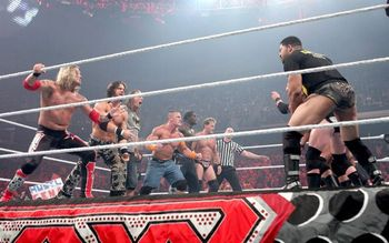 Cena's Summerslam Team and Nexus facing off