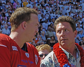 Peyton Manning and Dan Marino