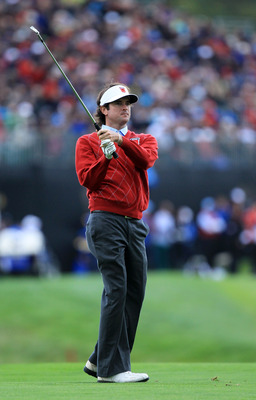 NEWPORT, WALES - OCTOBER 03:  Bubba Watson of the USA hits an approach shot during the  Fourball & Foursome Matches during the 2010 Ryder Cup at the Celtic Manor Resort on October 3, 2010 in Newport, Wales. (Photo by David Cannon/Getty Images)