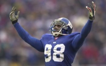 Couldn't find a suitable video. Pictured is Jesse Armstead, soul and leader of the 2000 New York Giants Defense
