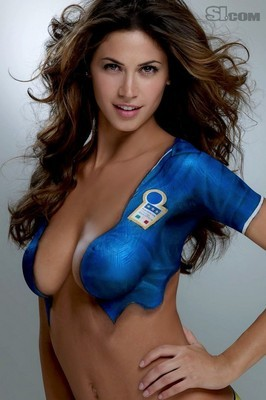 ... is an italian soccer wag and made for painted on clothes she should