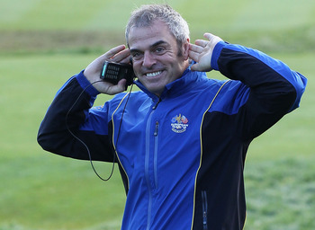 NEWPORT, WALES - OCTOBER 04:  European Team vice-captain Paul McGinley walks to the first tee in the singles matches during the 2010 Ryder Cup at the Celtic Manor Resort on October 4, 2010 in Newport, Wales.  (Photo by David Cannon/Getty Images)