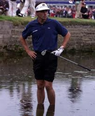 Jean Van de Velde during his &quot;choke&quot; at the 1999 British Open