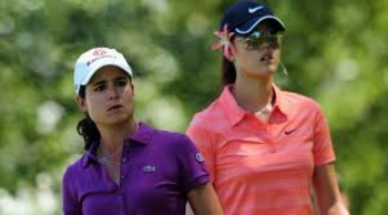 Lorena Ochoa and Honorable Mention Michelle Wie