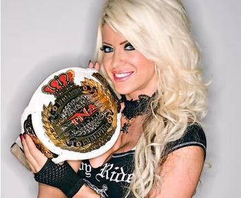 Current TNA Knockouts Champion; Angelina Love