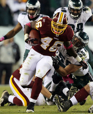 Redskins running back Ryan Torain