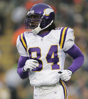 Vikings wide receiver Randy Moss