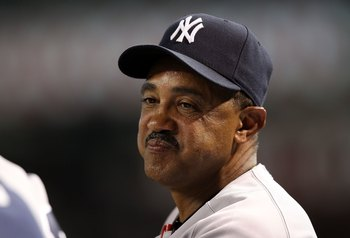 PHOENIX - JUNE 22:  Bench coach Tony Pena of the New York Yankees watches from the dugout during the Major League Baseball game against the Arizona Diamondbacks at Chase Field on June 22, 2010 in Phoenix, Arizona.   The Yankees defeated the Diamondbacks 9