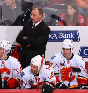 Brent Sutter was hired by his brother to be Head Coach of the Calgary Flames on June 23, 2009, after resigning as Head Coach of the New Jersey Devils just two weeks earlier, citing family reasons.