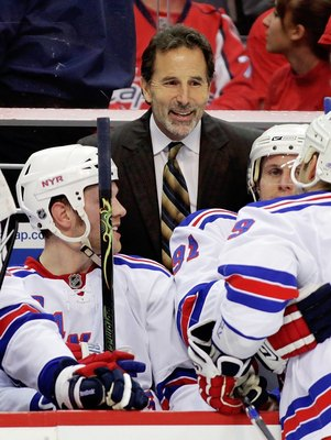 John Tortorella was named Head Coach of the New York Rangers on February 23, 2009, replacing Tom Renney as coach.  Tortorella also was interim coach for 4 games to complete the 1999-2000 season for the Rangers.