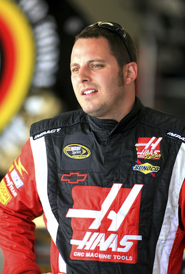DAYTONA BEACH, FL - JULY 03: Johnny Sauter driver of the #70 Haas Automation Chevrolet during practice for the NASCAR Sprint Cup Series Coke Zero 400 at Daytona International Speedway on July 3, 2008 in Daytona Beach, Florida.  (Photo by Jerry Markland/Ge