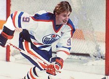 "Gretzky holds a 61 NHL records; They don't call him ""The Great One"" for nothing!"