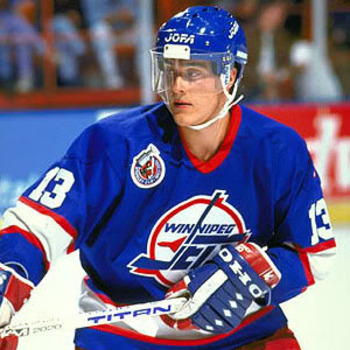 Selanne played for the Winnepeg Jets in his rookie year.