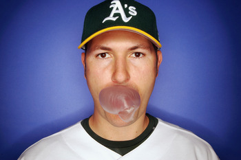PHOENIX - FEBRUARY 24:  Justin Duchscherer of the Oakland Athletics poses for a portrait during Photo Day at Papago Park on February 24, 2007 in Phoenix, Arizona. (Photo by Jed Jacobsohn/Getty Images)