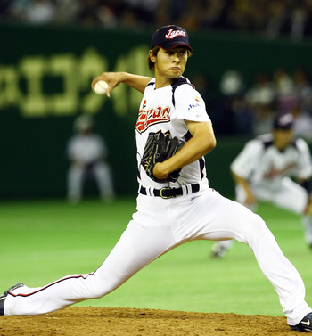 TOKYO - MARCH 09:  Pitcher Yu Darvish #11 of Japan throws a pitch during the World Baseball Classic Pool A Tokyo Round match between South Korea and Japan at Tokyo Dome on March 9, 2009 in Tokyo, Japan. (Photo by Junko Kimura/Getty Images)