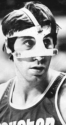 Rudy T sportin' a stylish early version of the protective face mask.