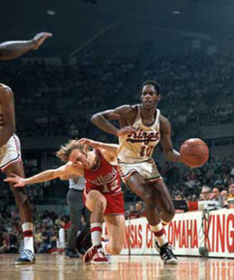"The great Nate ""Tiny"" Archibald playing for the KC Kings"