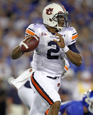 LEXINGTON, KY - OCTOBER 09:  Cam Newton #2 of the Auburn Tigers looks to throw a pass during the SEC game against the Kentucky Wildcats at Commonwealth Stadium on October 9, 2010 in Lexington, Kentucky.  (Photo by Andy Lyons/Getty Images)