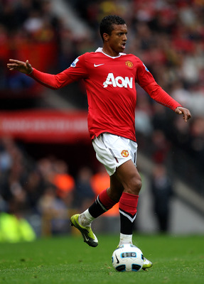 MANCHESTER, ENGLAND - SEPTEMBER 19:  Nani of Manchester United in action during the Barclays Premier League match between Manchester United and Liverpool at Old Trafford on September 19, 2010 in Manchester, England.  (Photo by Alex Livesey/Getty Images)