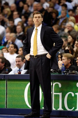 DALLAS - JANUARY 13:  Head coach Rick Carlisle on January 13, 2010 at American Airlines Center in Dallas, Texas.  NOTE TO USER: User expressly acknowledges and agrees that, by downloading and/or using this Photograph, user is consenting to the terms and c