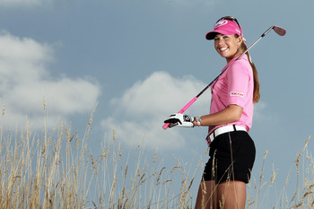 NORTH PLAINS, OR - AUGUST 18: Paula Creamer poses for a portrait before the Safeway Classic at Pumpkin Ridge Golf Club on August 18, 2010 in North Plains, Oregon. (Photo by Jonathan Ferrey/Getty Images)