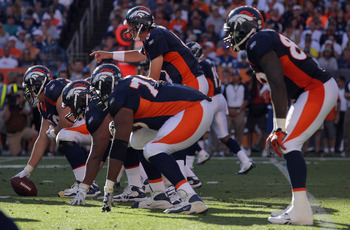 Denver's offensive line has done a poor job run blocking, but has given Orton the time he needs