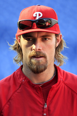 PHILADELPHIA - OCTOBER 08: Jayson Werth #28 of the Philadelphia Phillies is shown during batting practice before game 2 of the NLDS against the Cincinnati Reds at Citizens Bank Park on October 8, 2010 in Philadelphia, Pennsylvania.  (Photo by Chris Trotma