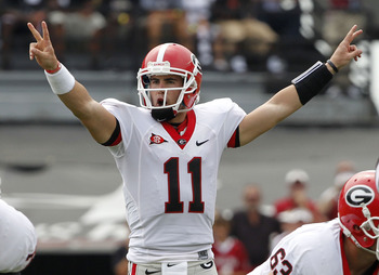 "QB Aaron Murray tells Bulldogs faithful to ""peace out"" 'cause he's got this."
