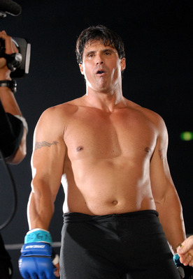 YOKOHAMA, JAPAN - MAY 26:  Former Oakland Athletics slugger Jose Canseco looks on prior to the match with Choi Hong-man at first Round of Super Hulk Tournament during Dream.9 at Yokohama Arena on May 26, 2009 in Yokohama, Kanagawa, Japan. Canseco lost at