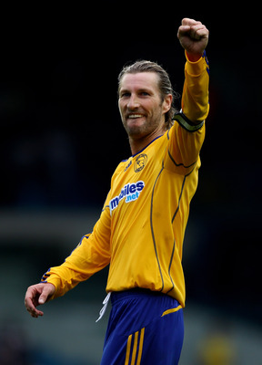 LEEDS, ENGLAND - AUGUST 07:  Robbie Savage of Derby County celebrates his teams victory after the npower Championship match between Leeds United and Derby County at Elland Road on August 7, 2010 in Leeds, England.  (Photo by Clive Brunskill/Getty Images)