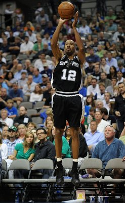 DALLAS - APRIL 25:  Guard Bruce Bowen #12 of the San Antonio Spurs during play against the Dallas Mavericks in Game Four of the Western Conference Quarterfinals during the 2009 NBA Playoffs at American Airlines Center on April 25, 2009 in Dallas, Texas. N