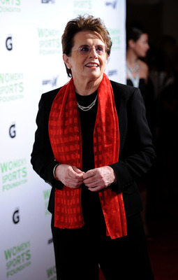NEW YORK - OCTOBER 12:  Womens Sports Foundation Founder Billie Jean King attends the 32nd Annual Salute to Women in Sports gala at The Waldorf=Astoria on October 12, 2010 in New York City.  (Photo by Bryan Bedder/Getty Images)
