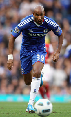 LONDON, ENGLAND - OCTOBER 03:  Nicolas Anelka of Chelsea in action during the Barclays Premier League match between Chelsea and Arsenal at Stamford Bridge on October 3, 2010 in London, England.  (Photo by Bryn Lennon/Getty Images)