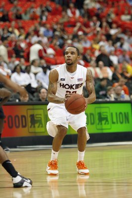ATLANTA - MARCH 12:  Malcolm Delaney #23 of the Virginia Tech Hokies looks to take a shot against the Miami Hurricanes during day one of the 2009 ACC Men's Basketball Tournament on March 12, 2009 at the Georgia Dome in Atlanta, Georgia. (Photo by: Kevin C