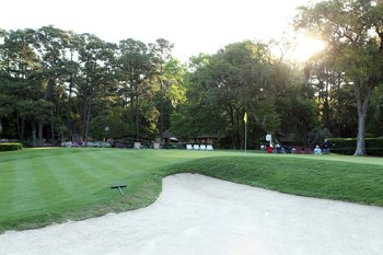 HILTON HEAD ISLAND, SC - APRIL 17:  A general view of the fifth green at the Harbour Town Golf Links prior to the start of third round of the Verizon Heritage on April 17, 2010 in Hilton Head lsland, South Carolina.  (Photo by Scott Halleran/Getty Images)