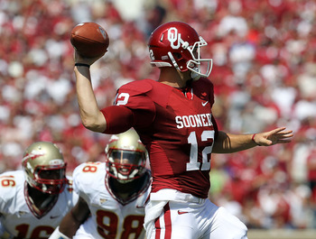 The Oklahoma Sooners Offense lit up Florida State to the tune of 394 Passing Yards, and 4 TD's in the Seminoles only blemish through their first six games.