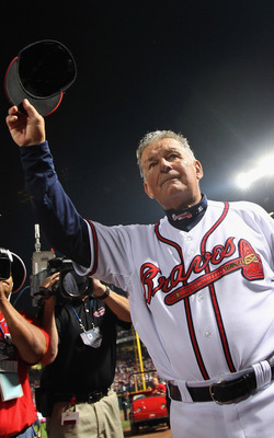 After 20 years managing the Atlanta Braves, Bobby Cox steps down.