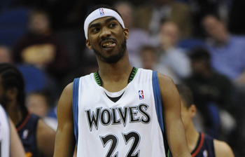 MINNEAPOLIS, MN - APRIL 7: Corey Brewer #22 of Minnesota Timberwolves reacts to a call in the first half against the Golden State Warriors during a basketball game at Target Center on April 7, 2010 in Minneapolis, Minnesota. The Warriors defeated the Timb