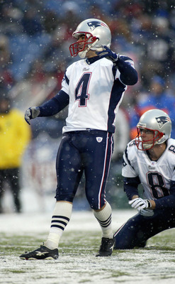 Vinatieri, kicking in a winter wonderland.