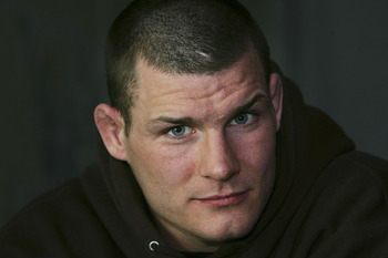 MANCHESTER, UNITED KINGDOM - APRIL 19:  British Ultimate Fighting Champion Michael Bisping poses for photographs before his fight against Australian Elvis Sinosic in the Ultimate Fighting Championship on 19 April, 2007, Manchester, England. Ultimate fight