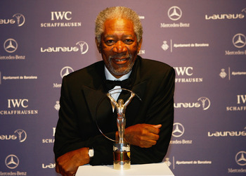 BARCELONA, SPAIN - APRIL 02:  Actor Morgan Freeman attends the awards ceremony during the Laureus Sports Awards at the Palau Sant Jordi on April 2, 2007 in Barcelona, Spain.  (Photo by Ian Walton/Getty Images for Laureus)