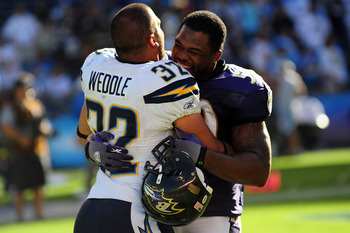 Both Eric Weddle and Antwan Barnes looking to play together on the same field this season.