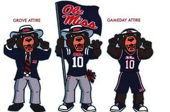 What is this, Ole Miss, an overgrown teddy bear?