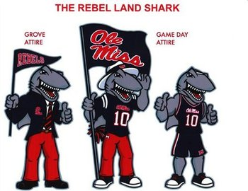 A shark would have been a great chose. He could make a biting motion when the Rebels chew the clock away.